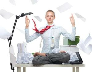 Find your workday zen: Stretching at your desk at regular intervals relieves tension and tight muscles