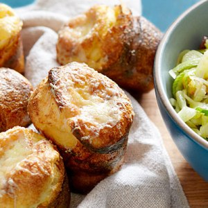 At around 100 calories each, popovers are a great alternative to heavy biscuits in spring meals