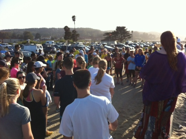Great turnout from the San Francisco running community in support of Boston