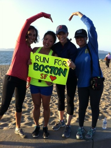 Running BostonStrong with some pals in SF