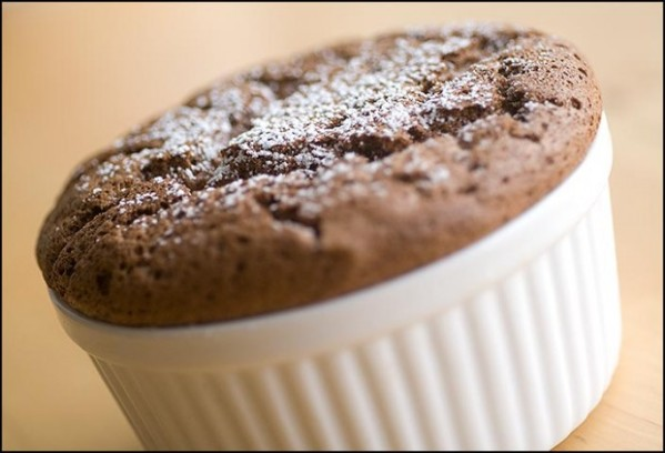 End your meal on a lighter note with individual chocolate souffle cakes
