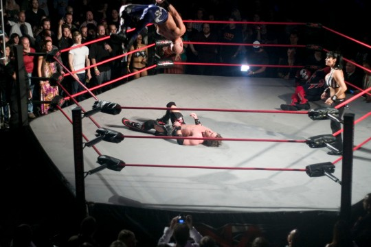 TNA Wrestler Daniels performing a Best Moonsault Ever (BME) Photo Credit: Hoard han/Flickr