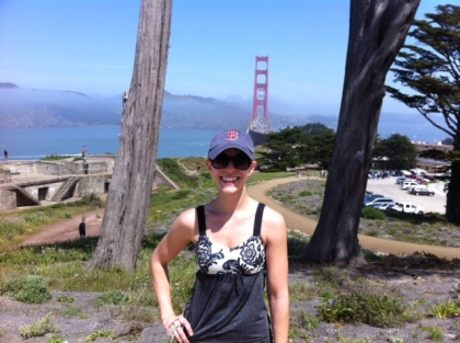 Me & the GGB! (Thanks to the kind stranger for snapping this, thus allowing me to avoid an awkward selfie)