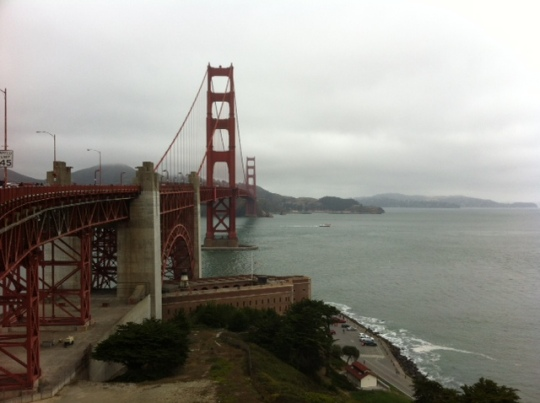 View of the Golden Gate Bridge toward Marin
