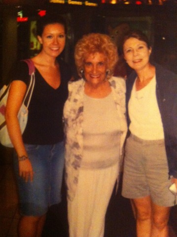 The one and only 'Olga' of Olga's Kitchen, posing with my sister and mom