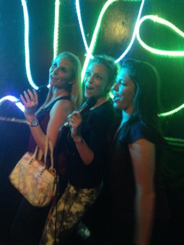 Karaoke 'til 1am...not a good recovery plan