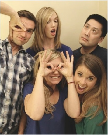 The SweatGuru team. Don't let the goofy faces fool you; these folks are serious about fitness!