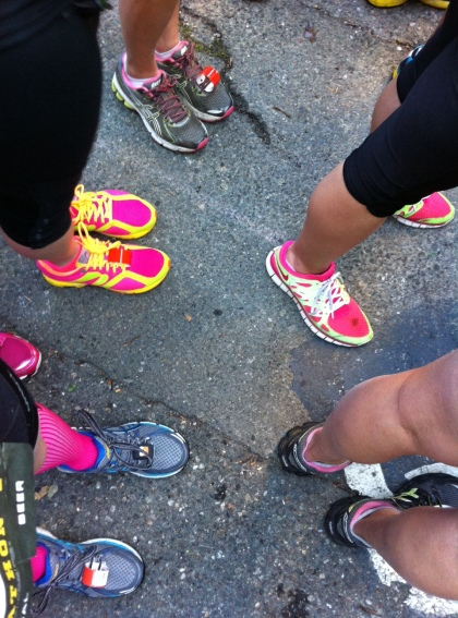 Couldn't resist snapping a shot of all the colorful shoes!