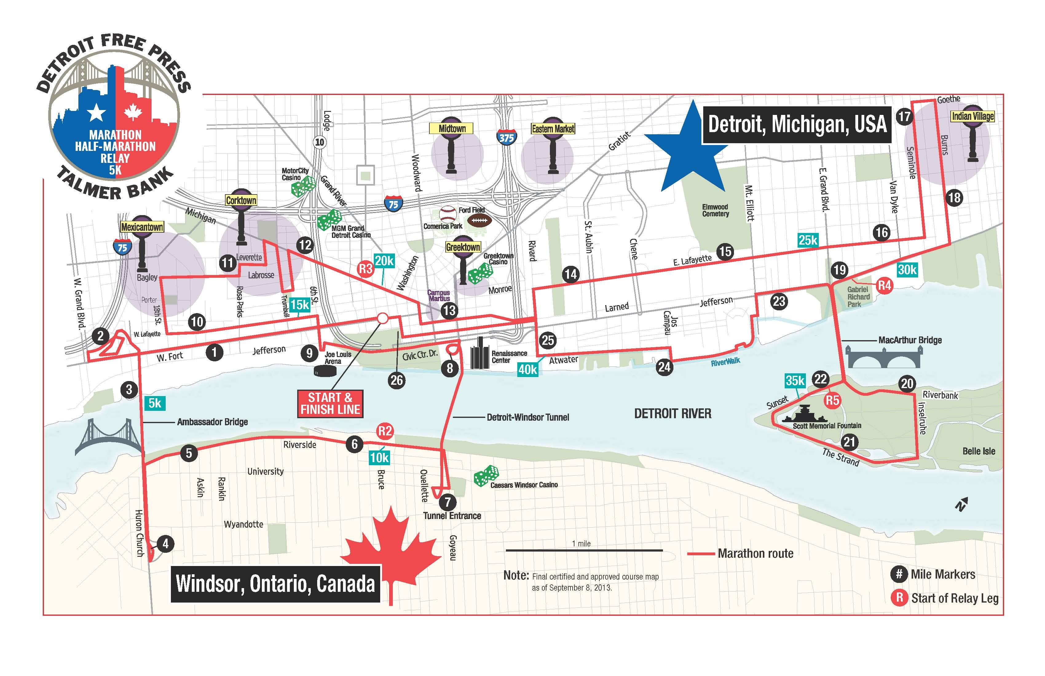 Race Report 2014 Detroit Marathon Kinetic Fix
