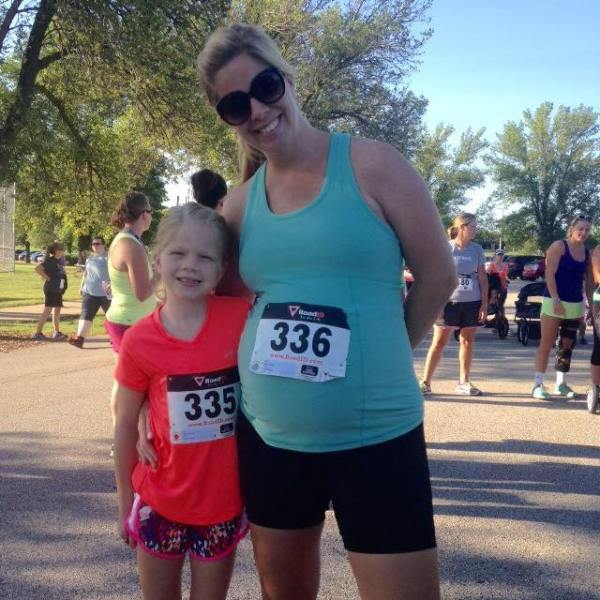 Angela's also an amazing role model for her kiddos; here, she helped her daughter run her first 5k!