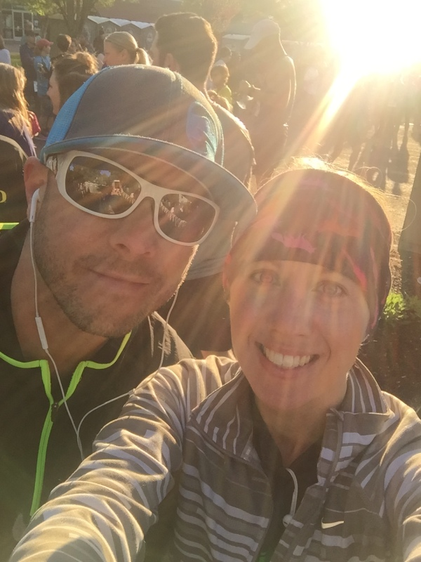 My Husband & I at the Eugene half